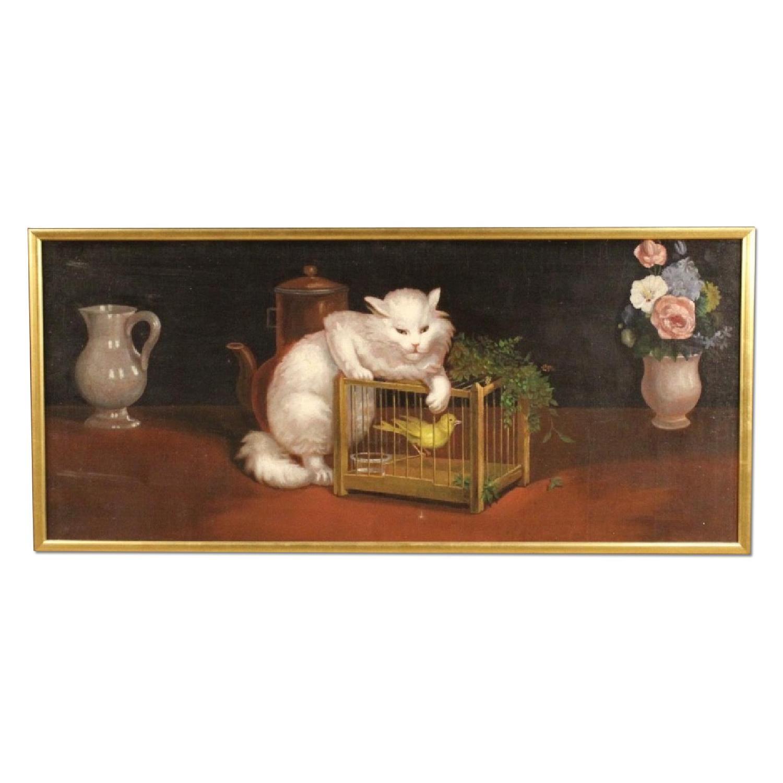 20th Century Dutch Still Life Painting Oil On Canvas