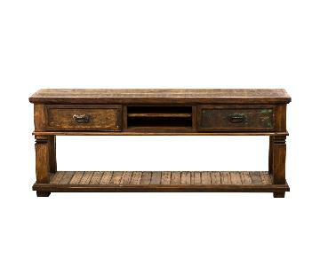 Rustic Reclaimed Wood Console Table in Peroba Wood