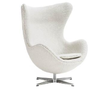 Arne Jacobsen-Style Egg Chair