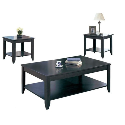 Coaster 3 Piece Occasional Tables Set in Cappuccino