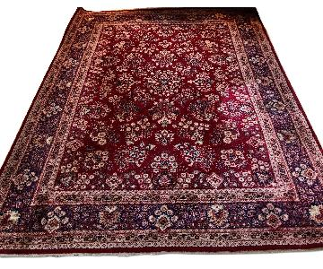 Antique Red Wool Area Rug