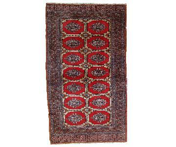 Vintage 1970s Uzbek Bukhara Rug