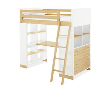 Room & Board Moda Loft Bed w/ Desk & Dresser