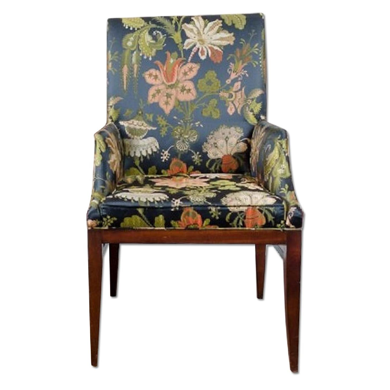 Custom Council Floral Chair