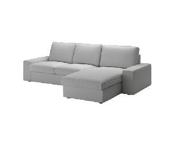 Ikea Kivik Sectional Sofa w/ Chaise in Orrsta Light Gray