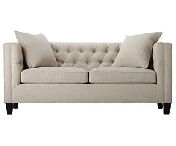 Home Decorator's Collection Linen Tufted Lakewood Sofa