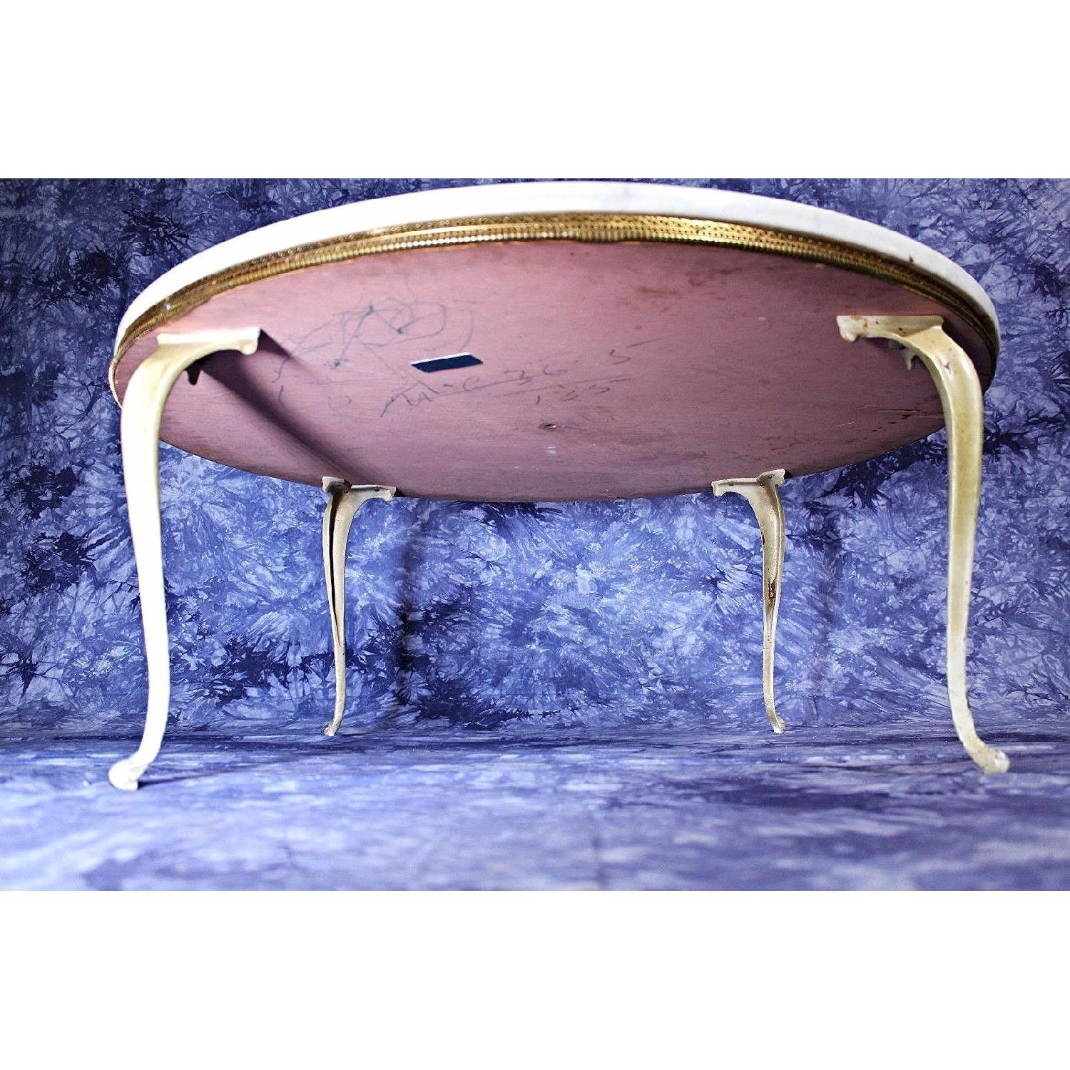 Antique Van Sciver Signed Queen Anne Marble Top Coffee