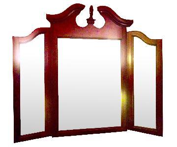 HardWood Tri-Fold Vanity Mirror