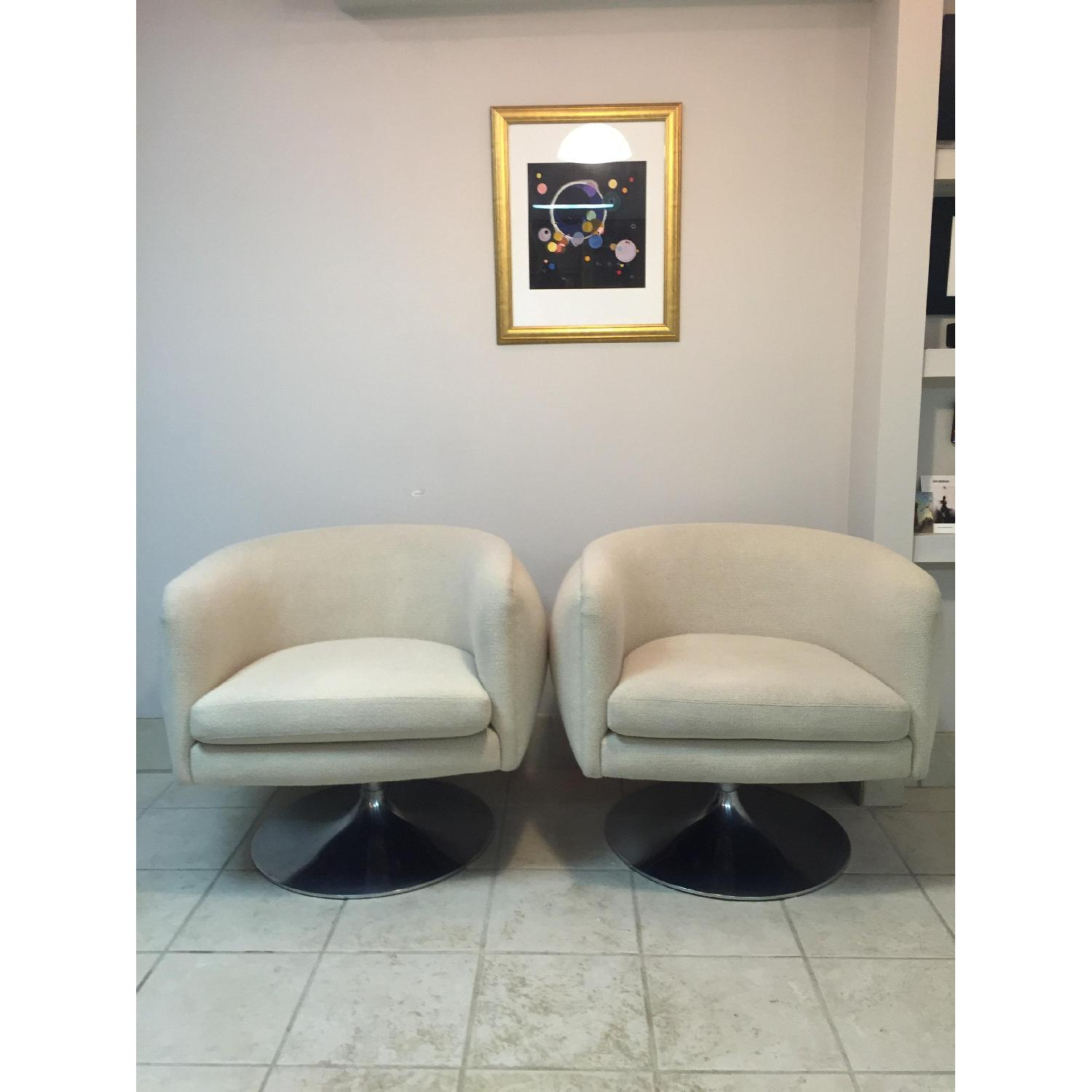 Knoll D'Urso Swivel Lounge Chair - 2 Available - image-9