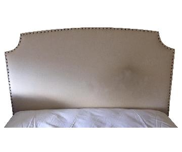 Crate & Barrel Curve Upholstered Full Headboard