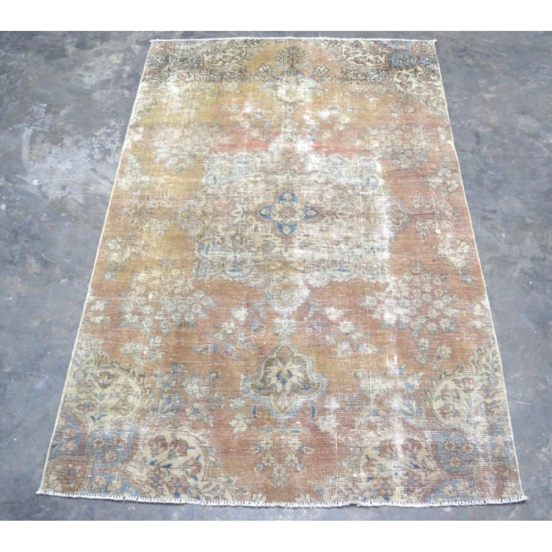Persian Tabriz Overdyed Handmade Rug - image-3