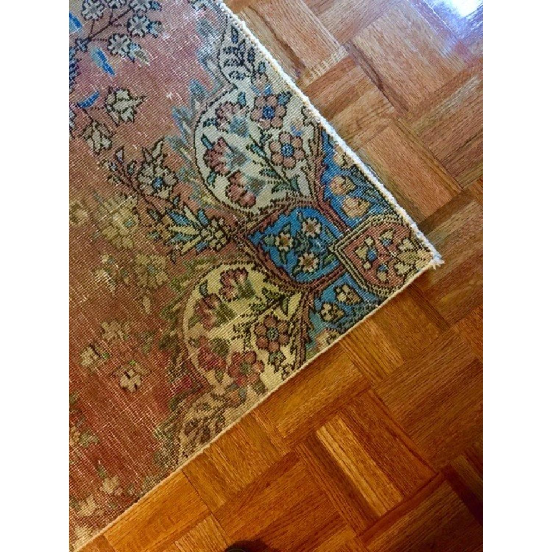 Persian Tabriz Overdyed Handmade Rug - image-7