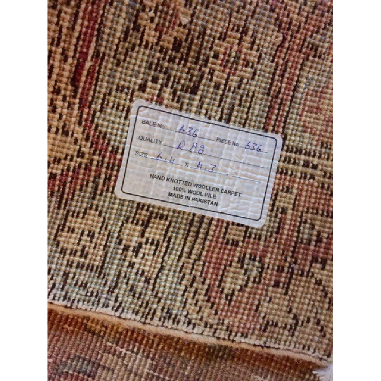 Persian Tabriz Overdyed Handmade Rug - image-8