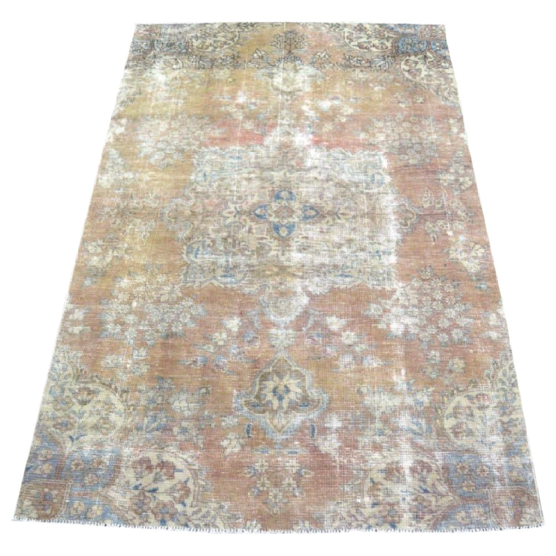 Persian Tabriz Overdyed Handmade Rug - image-0