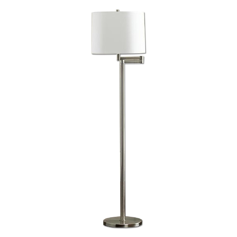 Crate & Barrel Metro Nickel II Lamp w/ Shade