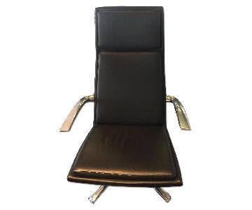 BoConcept Black Leather Chair