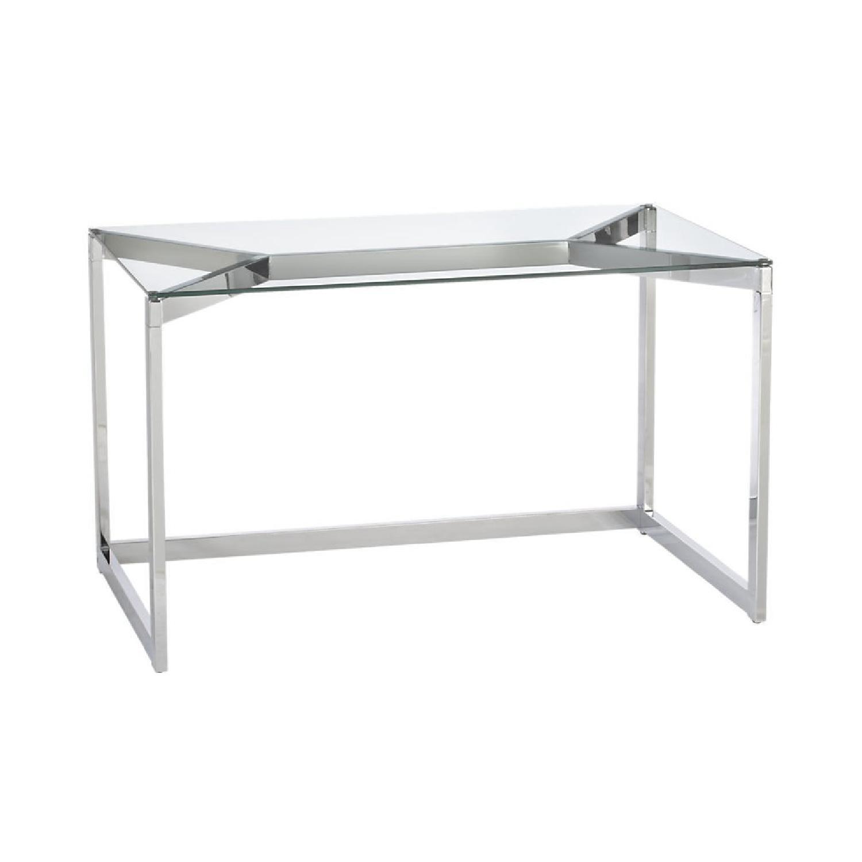 Cb2 Tesso Chrome Amp Glass Desk Aptdeco