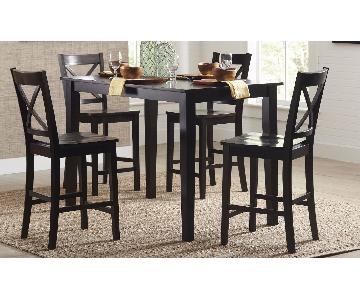 Raymour & Flanigan 5 Piece Counter Height Dining Set