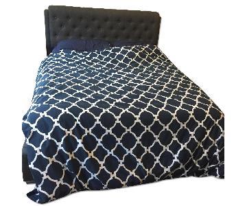 Modern Upholstered Queen Size Bed frame