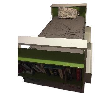 DucDuc Austin Bed w/ Shelf & Drawer Storage