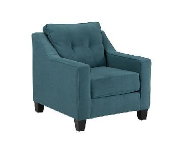 Ashley Shayla Arm Chair in Teal Color