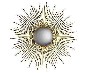 Renwil Nyambi Round Medium Mirror w/ Gold Leaf Finish