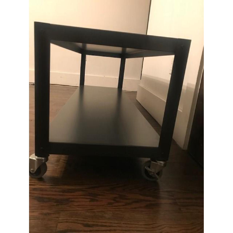 CB2 Rolling TV Stand Coffee Table AptDeco