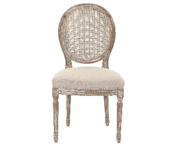 Safavieh Lehana Linen Rustic Oval Side Chair