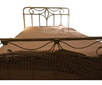 Antique Wrought Iron Full Size Bed Frame