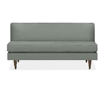 Room & Board Green Armless Sofa