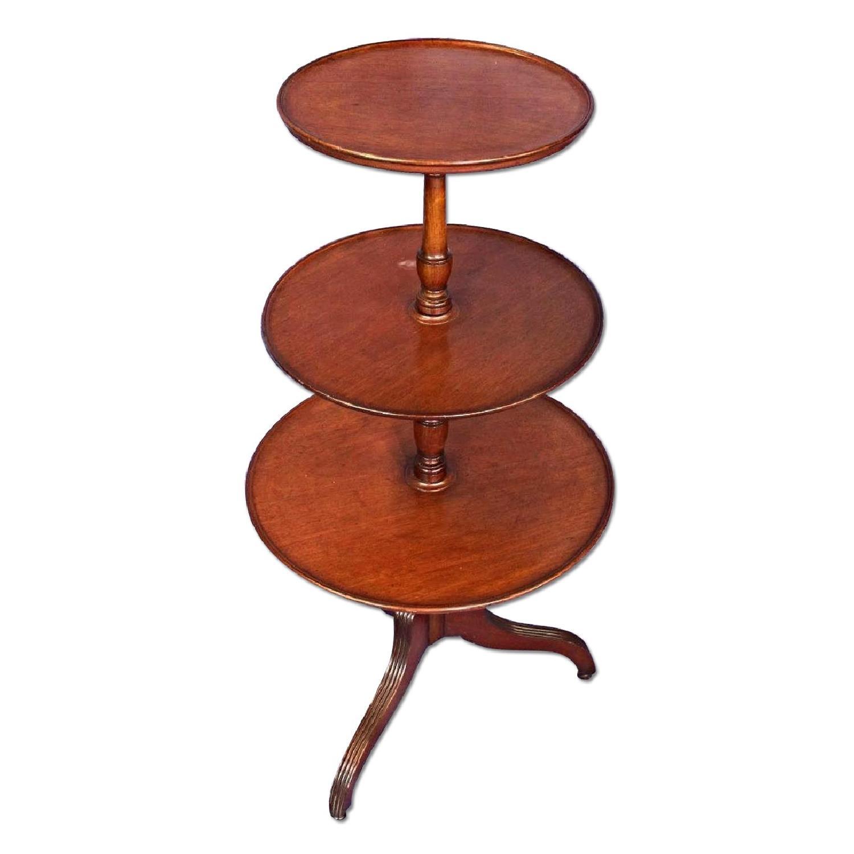 Antique Sheraton Style 3 Tier Mahogany Dumbwaiter Table ...