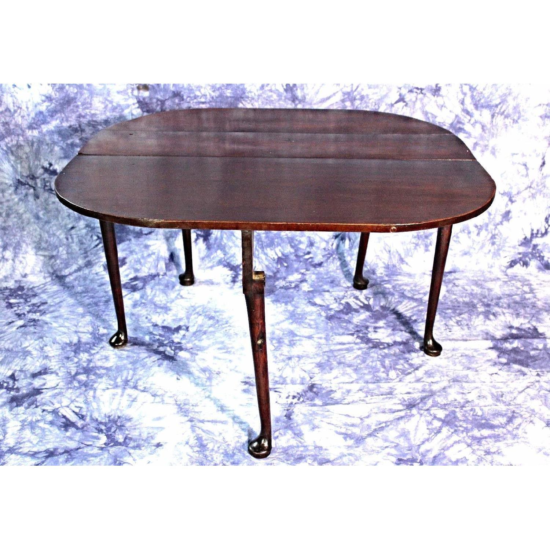 18c Early Queen Anne Mahogany Drop Leaf Gate Leg Table