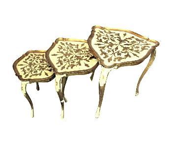 Florentine Italy Papier Mache Gilt Set Nesting Tables