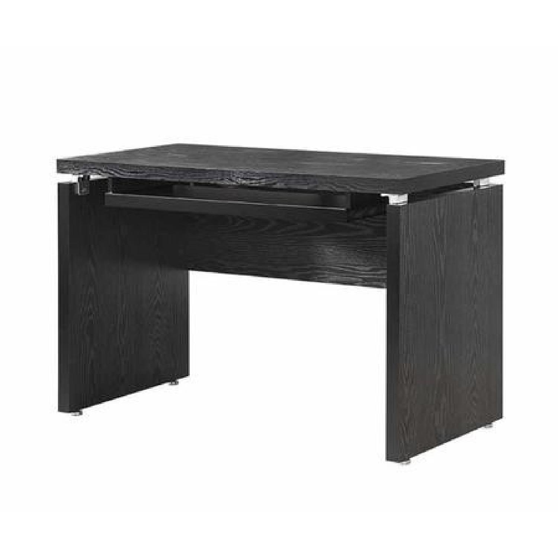 Peel Computer Desk w/ Keyboard Tray in Black