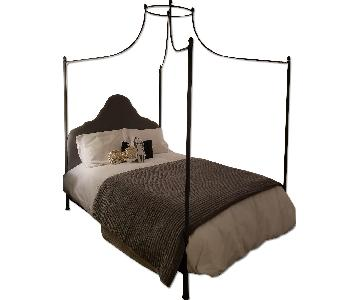 Restoration Hardware Allegra Iron Canopy Bed in Pebbled Grey