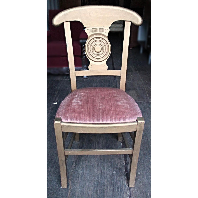 Art Deco Gilt Wood Amp Fabric Dining Chair Aptdeco