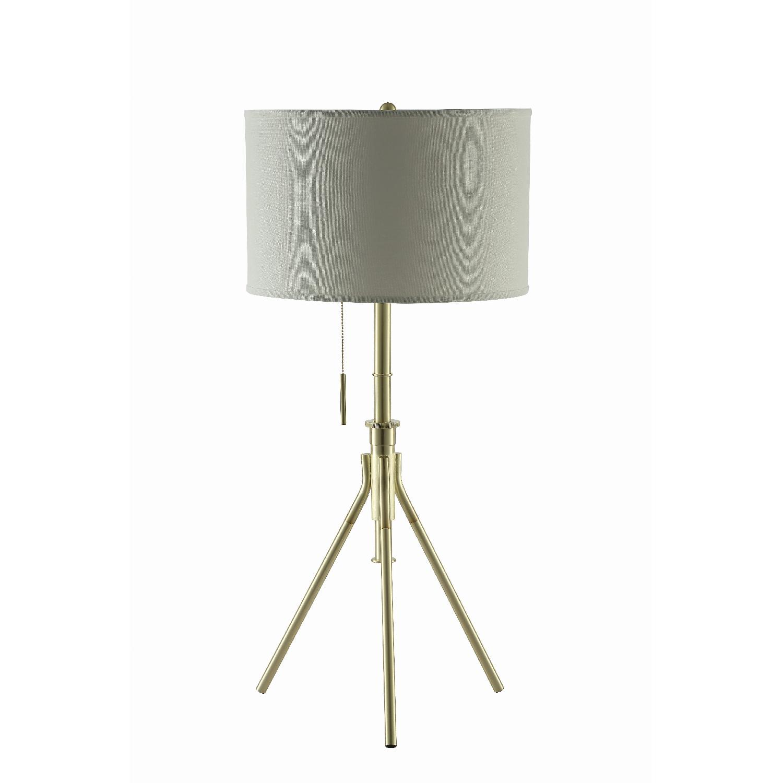 Modern Height Adjustable Table Lamp w/ Light Gold Base
