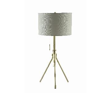 Modern Height Adjustable Table Lamp w/ Light Gold Base
