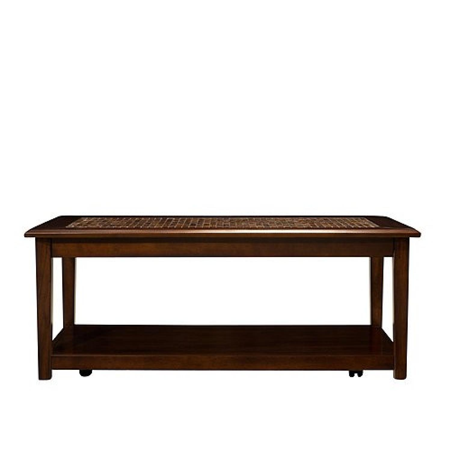 Raymour Flanigan Wood Coffee Table Aptdeco