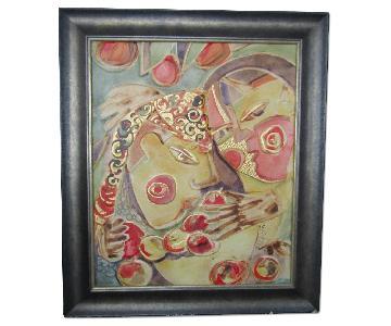Ausrine Kerr Original Painting on Leather