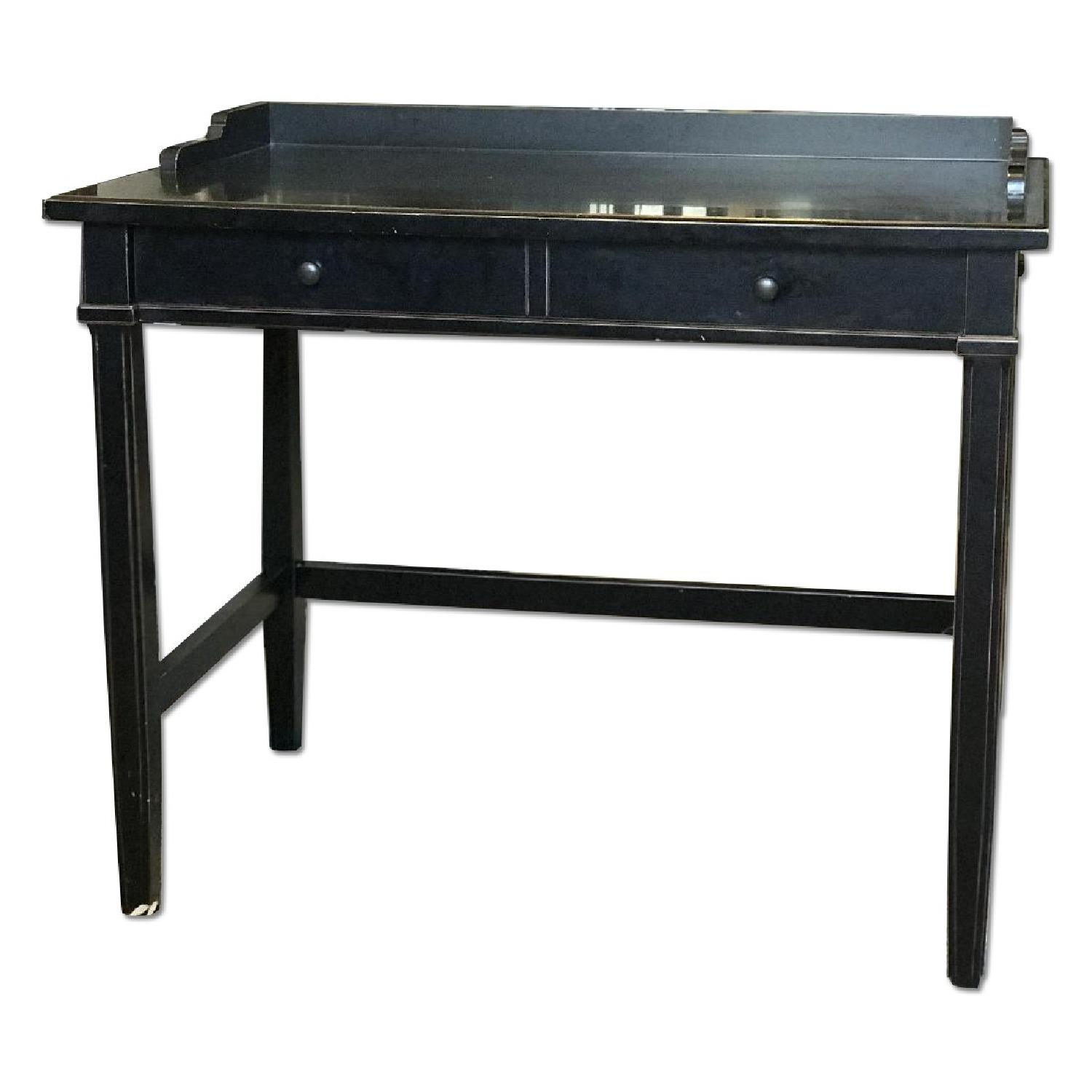 counter height butcher block side table w hairpin legs aptdeco. Black Bedroom Furniture Sets. Home Design Ideas