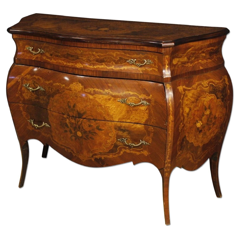 Italian Inlaid Louis XV Style 3 Drawer Dresser