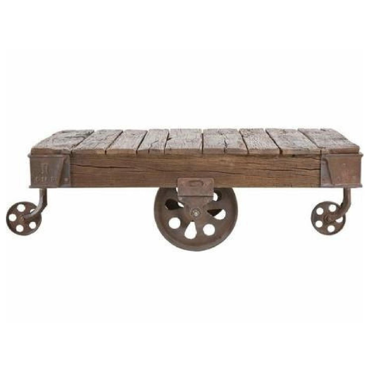 Railway sleeper coffee table aptdeco railway sleeper coffee table railway sleeper coffee table 0 geotapseo Gallery