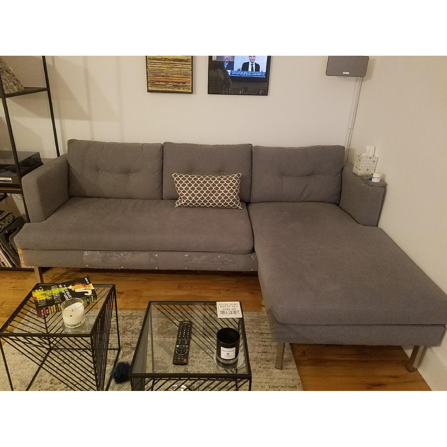 CB2 Ditto II Grey Sectional Sofa-1