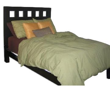West Elm Square Cut Out Full Bed Frame