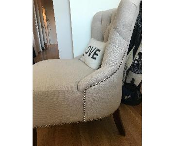 Safavieh Upholstered Accent Chair w/ Silver Nailhead Trim