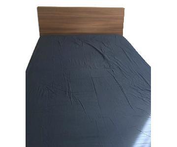 Ikea Full Size Storage Bed Frame w/ Storage Headboard