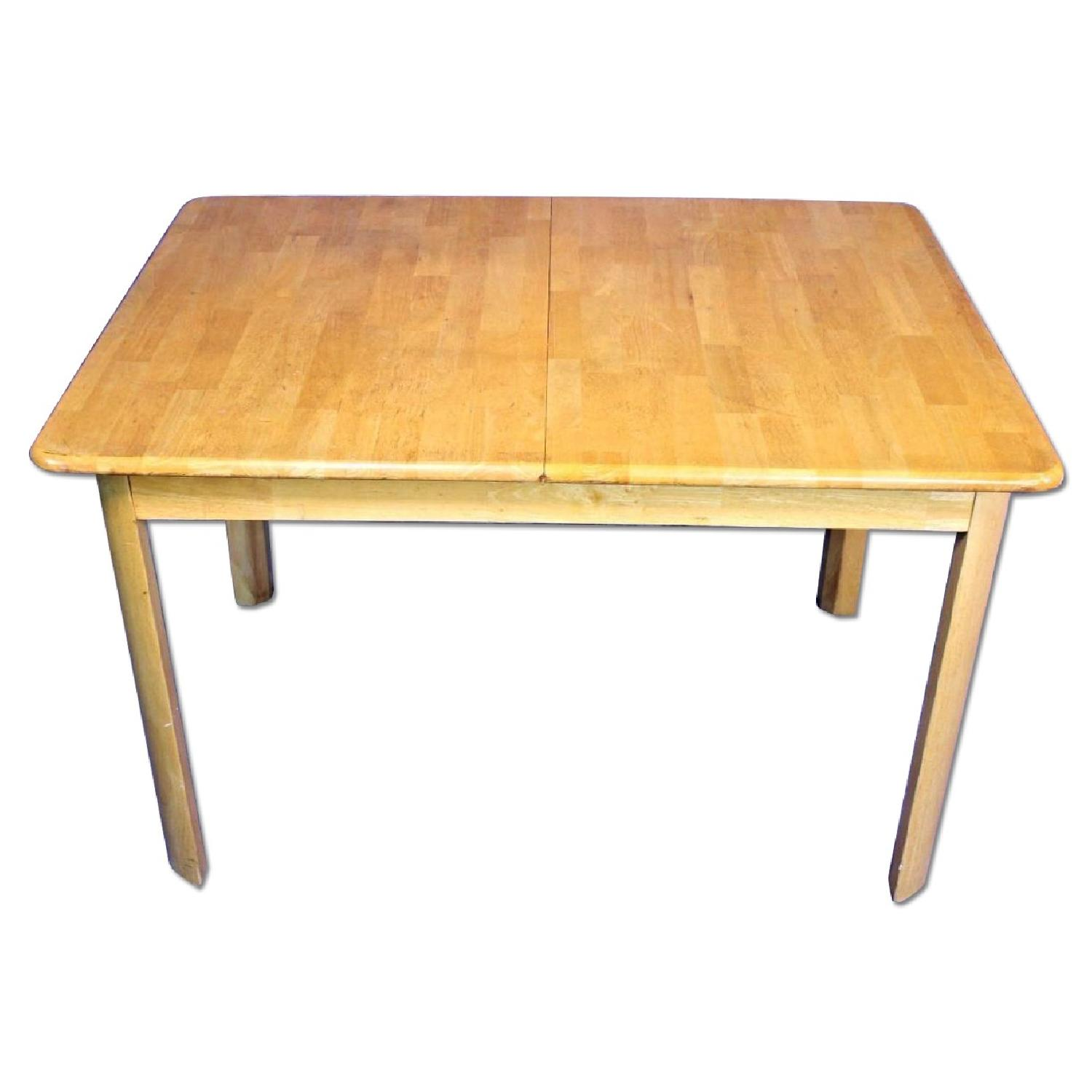 Wood Center Dining Table w/ Extension Leaf