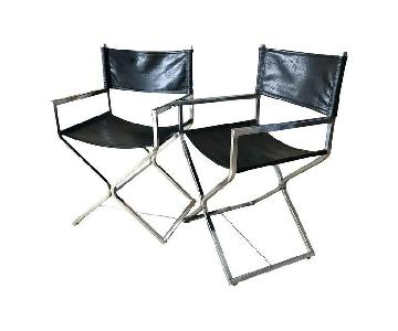 Virtue Brothers Mid Century Black Chrome Director's Chair