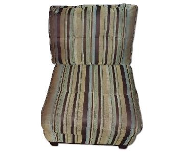 Striped Accent Chair